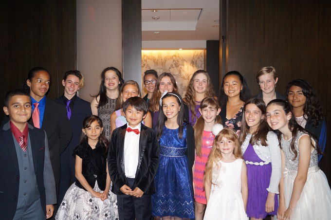 West L.A. Children's Choir SINGING AT SONY STUDIOS
